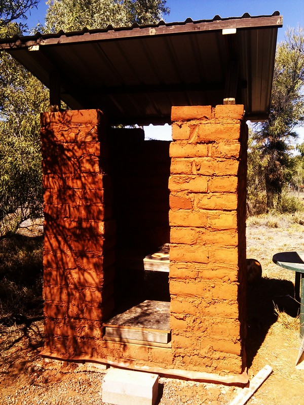 Mud brick toilet